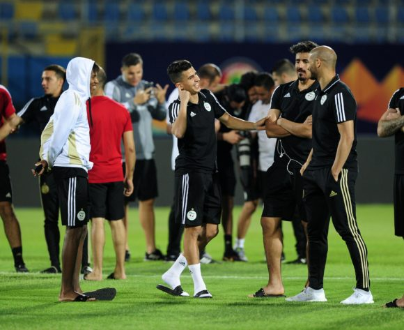 General view of Algeria players during the 2019 Africa Cup of Nations Finals Algeria training session at 30 June Stadium in Cairo, Egypt on 22 June 2019 © Ryan Wilkisky/BackpagePix