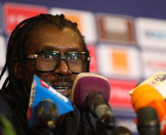 Aliou Cisse, coach of Senegal during the 2019 Africa Cup of Nations Finals Senegal press conference at 30 June Stadium, Cairo, Egypt on 22 June 2019 ©Samuel Shivambu/BackpagePix