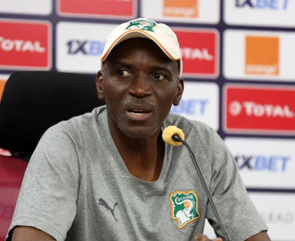 Ibrahim Kamara, coach of Ivory Coast during the 2019 Africa Cup of Nations Finals Ivory Coast press conference at AL- Salaam Stadium, Cairo, Egypt on 22 June 2019 ©Samuel Shivambu/BackpagePix