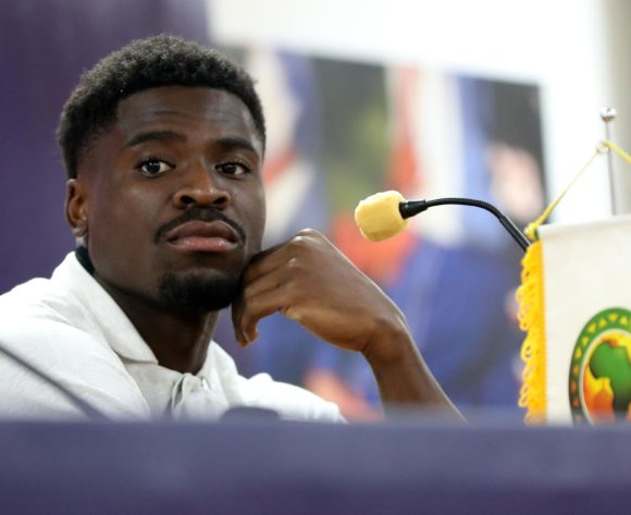 Serge Aurier of Ivory Coast during the 2019 Africa Cup of Nations Finals Ivory Coast press conference at AL- Salaam Stadium, Cairo, Egypt on 22 June 2019 ©Samuel Shivambu/BackpagePix
