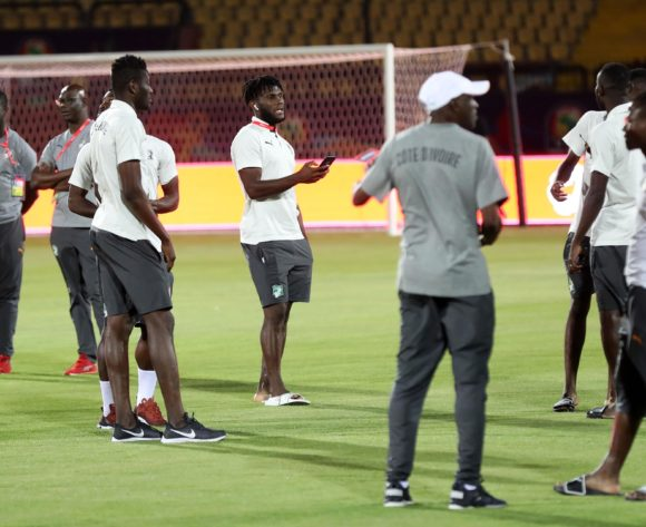 Franck Kessie (c) of Ivory Coast during the 2019 Africa Cup of Nations Finals Ivory Coast at Training at AL- Salaam Stadium, Cairo, Egypt on 22 June 2019 ©Samuel Shivambu/BackpagePix
