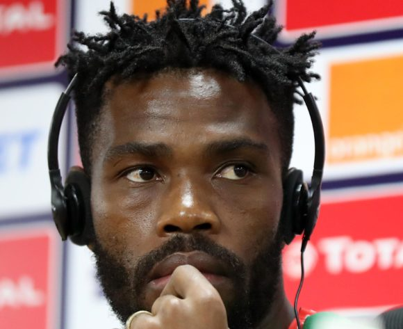 Thulani Hlatshwayo of South Africa during the 2019 Africa Cup of Nations Finals South Africa press conference at AL- Salaam Stadium, Cairo, Egypt on 22 June 2019 ©Samuel Shivambu/BackpagePix