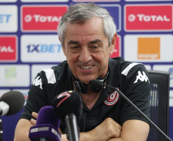 Alain Giresse. coach of Tunisia addresses media during the 2019 Africa Cup of Nations Finals Tunisia Press Conference at the Suez Stadium, Suez, Egypt on 23 June 2019 ©Gavin Barker/BackpagePix