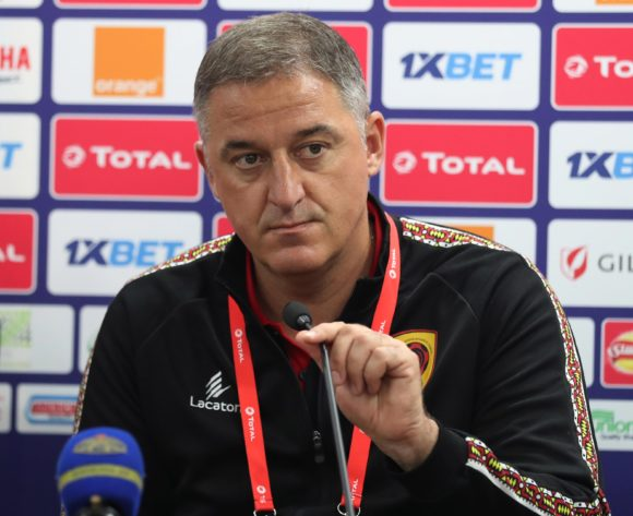 Srdjan Vasiljevic, coach of Angola addresses media during the 2019 Africa Cup of Nations Finals Angola Press Conference at the Suez Stadium, Suez, Egypt on 23 June 2019 ©Gavin Barker/BackpagePix