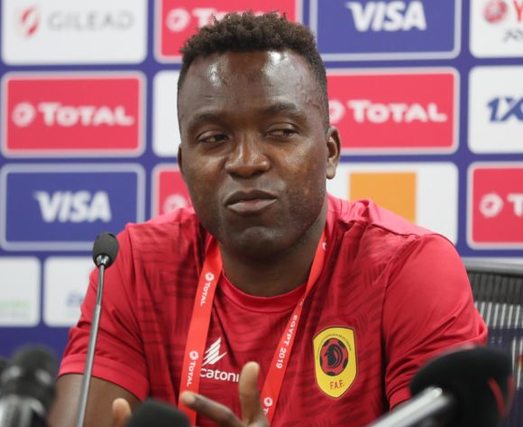 Mateus of Angola addresses media during the 2019 Africa Cup of Nations Finals Angola Press Conference at the Suez Stadium, Suez, Egypt on 23 June 2019 ©Gavin Barker/BackpagePix