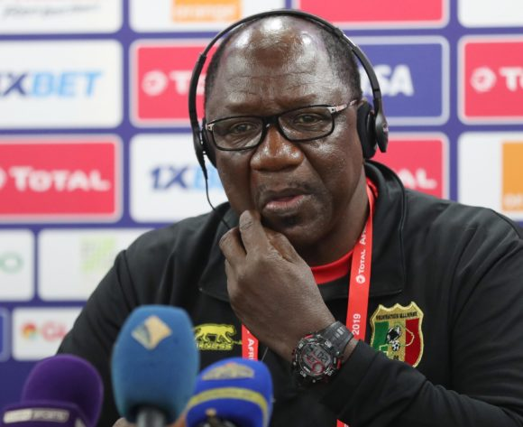 Mohamed Magassouba, coach of Mali addresses media during the 2019 Africa Cup of Nations Finals MaliPress Conference at the Suez Stadium, Suez, Egypt on 23 June 2019 ©Gavin Barker/BackpagePix