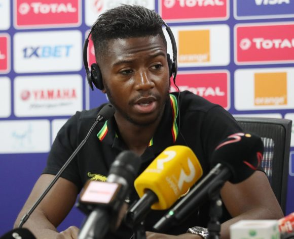 Abdoulay Diaby of Mali addresses media during the 2019 Africa Cup of Nations Finals MaliPress Conference at the Suez Stadium, Suez, Egypt on 23 June 2019 ©Gavin Barker/BackpagePix