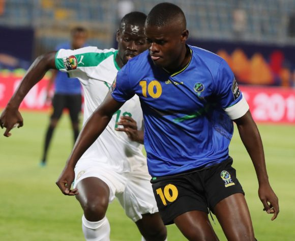 Mbwana Samatta of Tanzania during the 2019 Africa Cup of Nations Finals football match between Senegal and Tanzania at 30 June Stadium, Ciro, Egypt on 23 June 2019 ©Gavin Barker/BackpagePix