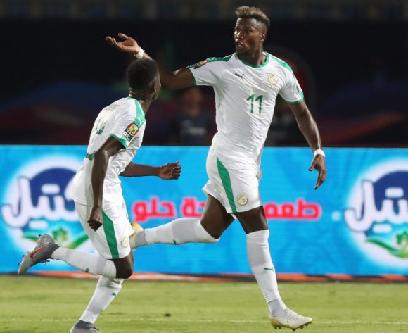 Keita Balde of Senegal celebrates goal during the 2019 Africa Cup of Nations Finals football match between Senegal and Tanzania at 30 June Stadium, Ciro, Egypt on 23 June 2019 ©Gavin Barker/BackpagePix