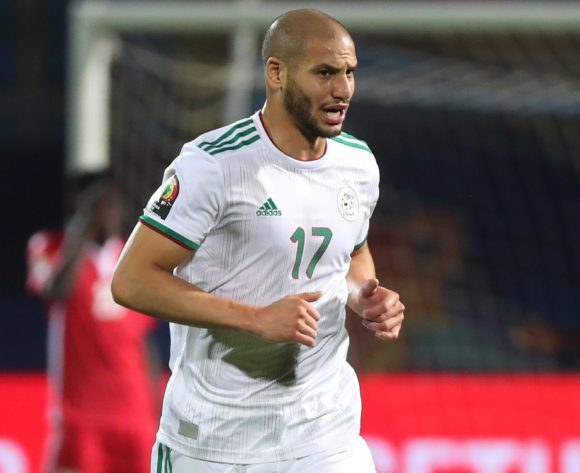 Adlane Guedioura of Algeria during the 2019 Africa Cup of Nations Finals football match between Algeria and Kenya at 30 June Stadium, Cairo, Egypt on 23 June 2019 ©Gavin Barker/BackpagePix