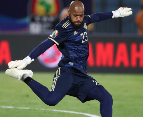 Adi Mbolhi Rais of Algeria  during the 2019 Africa Cup of Nations Finals football match between Algeria and Kenya at 30 June Stadium, Cairo, Egypt on 23 June 2019 ©Gavin Barker/BackpagePix