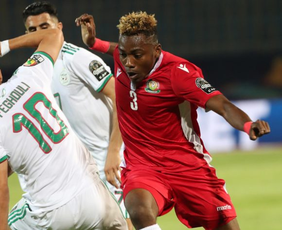 Aboud Omar of Kenya during the 2019 Africa Cup of Nations Finals football match between Algeria and Kenya at 30 June Stadium, Cairo, Egypt on 23 June 2019 ©Gavin Barker/BackpagePix