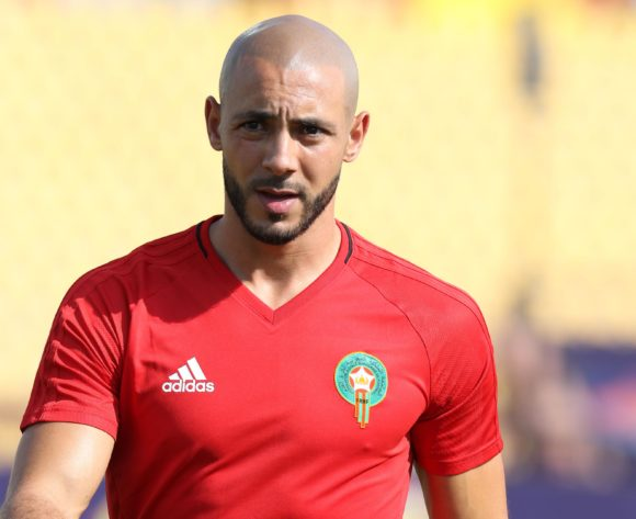 Nordin Amrabat of Morocco warm up during the 2019 Africa Cup of Nations Finals match between Morocco and Namibia at Training at Al-Salaam Stadium, Cairo, Egypt on 23 June 2019 ©Samuel Shivambu/BackpagePix