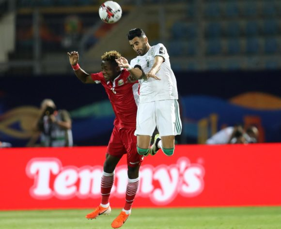 Riyad Mahrez of Algeria challenged by Aboud Omar of Kenya during the 2019 Africa Cup of Nations Finals football match between Algeria and Kenya at 30 June Stadium, Cairo, Egypt on 23 June 2019 ©Samuel Shivambu/BackpagePix