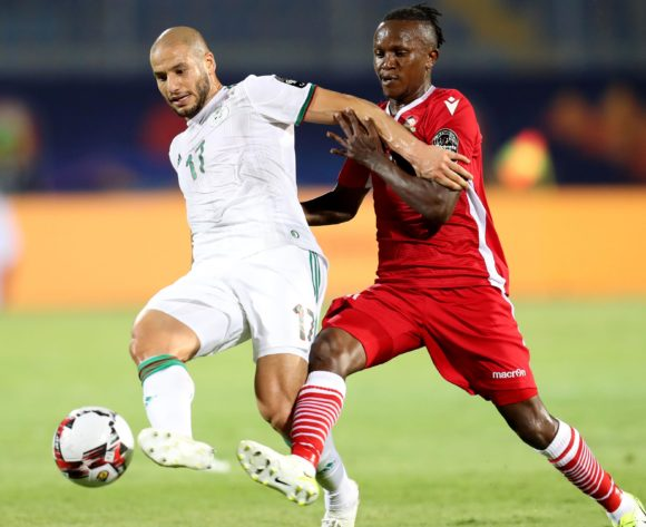 Adlane Guedioura of Algeria challenged by Francis Kahata of Kenya during the 2019 Africa Cup of Nations Finals football match between Algeria and Kenya at 30 June Stadium, Cairo, Egypt on 23 June 2019 ©Samuel Shivambu/BackpagePix
