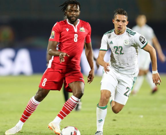 Johanna Omolo of Kenya challenged by Ismael Bennacer of Algeria during the 2019 Africa Cup of Nations Finals football match between Algeria and Kenya at 30 June Stadium, Cairo, Egypt on 23 June 2019 ©Samuel Shivambu/BackpagePix