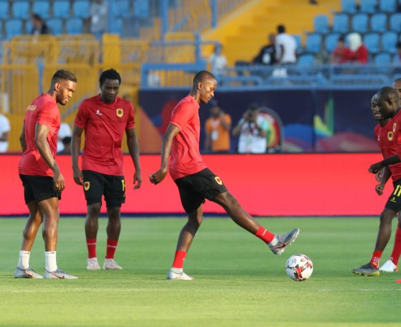 Angola players warm up during the 2019 Africa Cup of Nations Finals football match between Tunisia and Angola at Suez Army Stadium, Suez, Egypt on 24 June 2019 ©Samuel Shivambu/BackpagePix