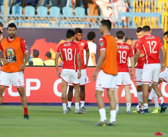 Tunisia players warm up during the 2019 Africa Cup of Nations Finals football match between Tunisia and Angola at Suez Army Stadium, Suez, Egypt on 24 June 2019 ©Samuel Shivambu/BackpagePix