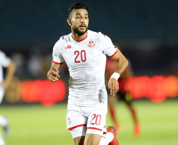 Ghaylen Chaaleli of Tunisia during the 2019 Africa Cup of Nations Finals football match between Tunisia and Angola at Suez Army Stadium, Suez, Egypt on 24 June 2019 ©Samuel Shivambu/BackpagePix