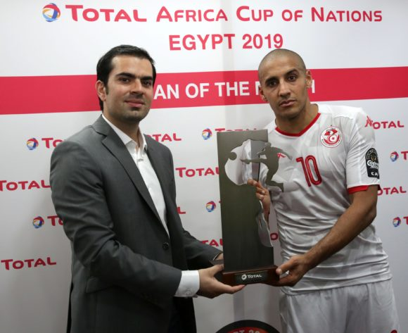 Wahbi Khazri of Tunisia won Man of the match during the 2019 Africa Cup of Nations Finals football match between Tunisia and Angola at Suez Army Stadium, Suez, Egypt on 24 June 2019 ©Samuel Shivambu/BackpagePix