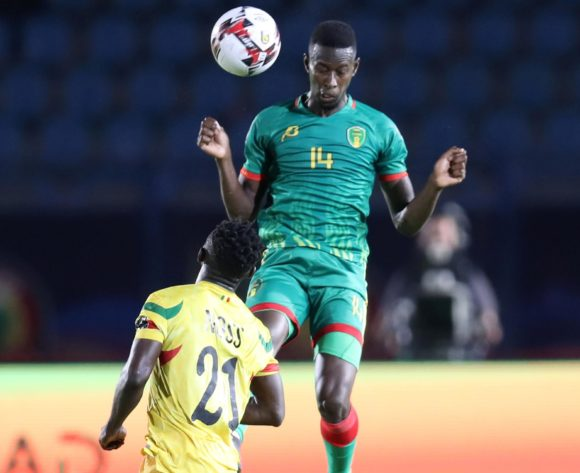 Mohamed Yali Dellahi of Mauritania challenged by Adama Traore Noss of Mali during the 2019 Africa Cup of Nations Finals football match between Mali and Mauritania at Suez Army Stadium, Suez, Egypt on 24 June 2019 ©Samuel Shivambu/BackpagePix