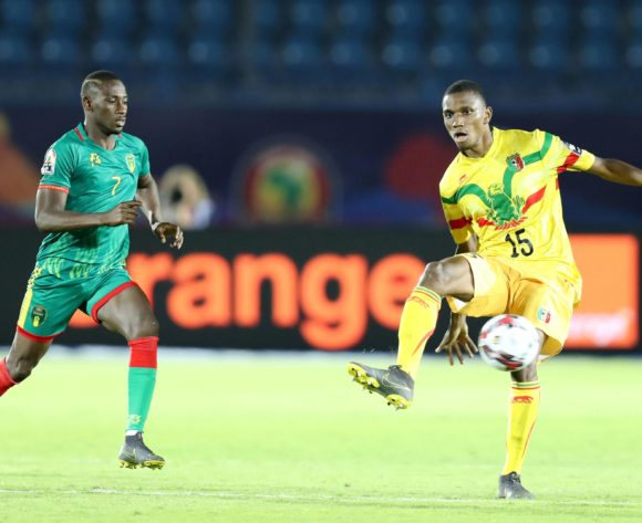 Mamadou Fofana of Mali challenged by Ismael Diakite of Mauritania during the 2019 Africa Cup of Nations Finals football match between Mali and Mauritania at Suez Army Stadium, Suez, Egypt on 24 June 2019 ©Samuel Shivambu/BackpagePix