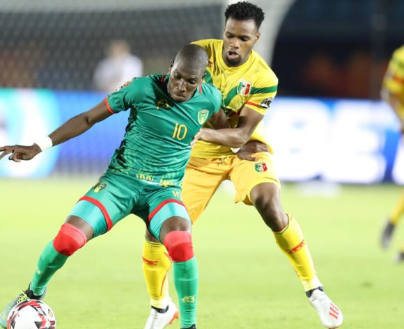 Adama Ba of Mauritania challenged by Lassana Coulibaly of Mali during the 2019 Africa Cup of Nations Finals football match between Mali and Mauritania at Suez Army Stadium, Suez, Egypt on 24 June 2019 ©Samuel Shivambu/BackpagePix
