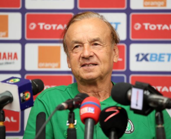 Gernot Rohr, coach of Nigeria during the 2019 Africa Cup of Nations Finals Nigeria Press Conference at the Alexandria Stadium, Alexandria on the 25 June 2019 ©Muzi Ntombela/BackpagePix