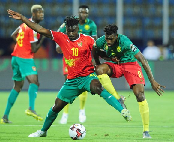 Judilson Mamadu Tuncara Gomes battle for possession with Andre Frank Zambo Anguissa of Cameroon during the 2019 Africa Cup of Nations Finals game between Cameroon and Guinea-Bissau at Ismailia Stadium in Ismailia, Egypt on 25 June 2019 © Ryan Wilkisky/BackpagePix