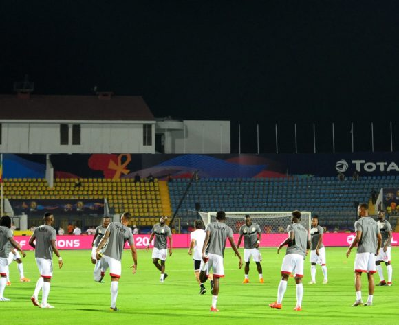 General view of Benin players warming up before the 2019 Africa Cup of Nations Finals game between Ghana and Benin at Ismailia Stadium in Ismailia, Egypt on 25 June 2019 © Ryan Wilkisky/BackpagePix