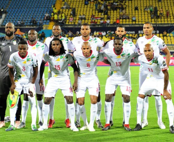 Benin Team Picture (back row l-r) Fabien Farnolle, Mickael Pote, Seidou Baraze,Steve Mounie, Cebio Soukou, Olivier Verdon (front row l-r) Abdou Adenon, Sessi Dalmeida, Jordan Souleymane Adeoti, Moise Adilehou, Emmanuelle Imorou during the 2019 Africa Cup of Nations Finals game between Ghana and Benin at Ismailia Stadium in Ismailia, Egypt on 25 June 2019 © Ryan Wilkisky/BackpagePix