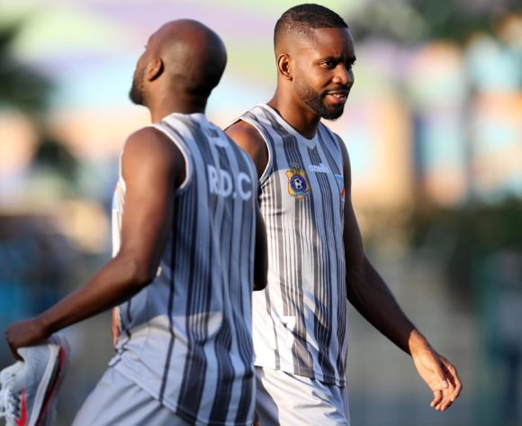 Mulumbu Yousuf and Cedric Bakambu of DR Congo during the 2019 Africa Cup of Nations Finals Dr Congo training at Arab Contractors Annex, Cairo, Egypt on 25 June 2019 ©Samuel Shivambu/BackpagePix