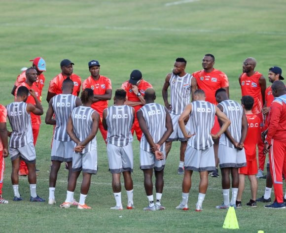 Dr Congo players during the 2019 Africa Cup of Nations Finals Dr Congo training at Arab Contractors Annex, Cairo, Egypt on 25 June 2019 ©Samuel Shivambu/BackpagePix