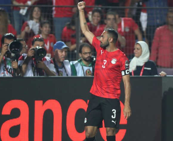 Ahmed El Mohamady of Egypt celebrates goal during the 2019 Africa Cup of Nations Finals football match between Egypt and DR Congo at the Cairo International Stadium, Cairo, Egypt on 26 June 2019 ©Gavin Barker/BackpagePix
