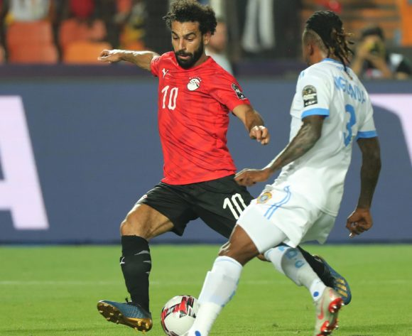 Mohamed Salah of Egypt shoots and scores during the 2019 Africa Cup of Nations Finals football match between Egypt and DR Congo at the Cairo International Stadium, Cairo, Egypt on 26 June 2019 ©Gavin Barker/BackpagePix
