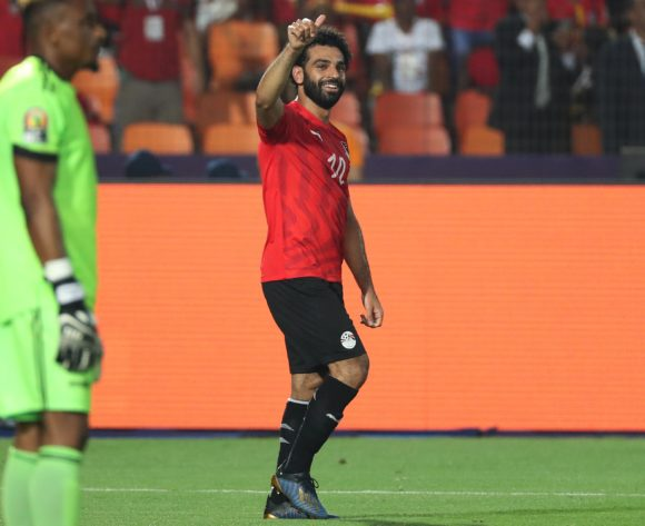 Mohamed Salah of Egypt celebrates goal during the 2019 Africa Cup of Nations Finals football match between Egypt and DR Congo at the Cairo International Stadium, Cairo, Egypt on 26 June 2019 ©Gavin Barker/BackpagePix