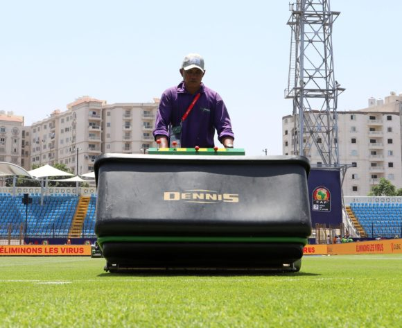 Field preparations during the 2019 Africa Cup of Nations match between Nigeria and Guinea at the Alexandria Stadium, Alexandria on the 26 June 2019 ©Muzi Ntombela/BackpagePix