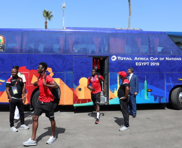 Guinea team arrival during the 2019 Africa Cup of Nations match between Nigeria and Guinea at the Alexandria Stadium, Alexandria on the 26 June 2019 ©Muzi Ntombela/BackpagePix
