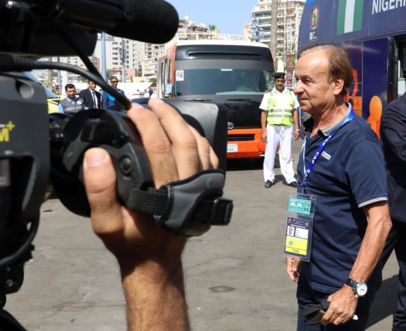 Gernot Rohr, coach of Nigeria during the 2019 Africa Cup of Nations match between Nigeria and Guinea at the Alexandria Stadium, Alexandria on the 26 June 2019 ©Muzi Ntombela/BackpagePix