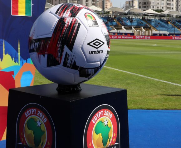 Gv of the match ball during the 2019 Africa Cup of Nations match between Nigeria and Guinea at the Alexandria Stadium, Alexandria on the 26 June 2019 ©Muzi Ntombela/BackpagePix