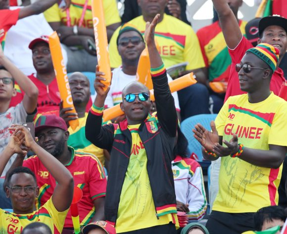 Guinea fans during the 2019 Africa Cup of Nations match between Nigeria and Guinea at the Alexandria Stadium, Alexandria on the 26 June 2019 ©Muzi Ntombela/BackpagePix