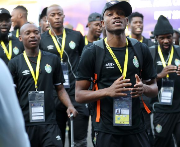Ovidy Karuru of Zimbabwe leading the singing when arriving during the 2019 Africa Cup of Nations Finals match between Uganda and Zimbabwe at Cairo International Stadium, Cairo, Egypt on 26 June 2019 ©Samuel Shivambu/BackpagePix