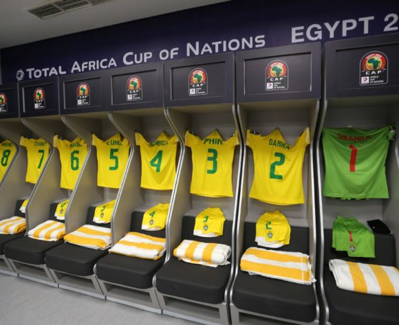 Zimbabwe change room during the 2019 Africa Cup of Nations Finals match between Uganda and Zimbabwe at Cairo International Stadium, Cairo, Egypt on 26 June 2019 ©Samuel Shivambu/BackpagePix