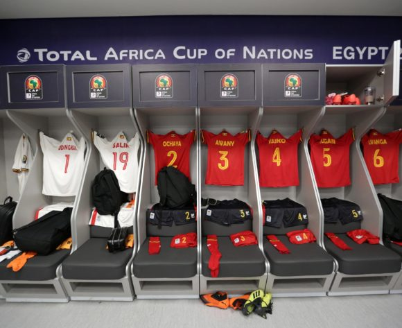 Uganda change room during the 2019 Africa Cup of Nations Finals match between Uganda and Zimbabwe at Cairo International Stadium, Cairo, Egypt on 26 June 2019 ©Samuel Shivambu/BackpagePix