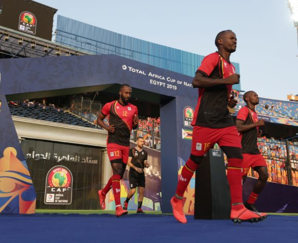 Uganda players going to warm up during the 2019 Africa Cup of Nations Finals match between Uganda and Zimbabwe at Cairo International Stadium, Cairo, Egypt on 26 June 2019 ©Samuel Shivambu/BackpagePix
