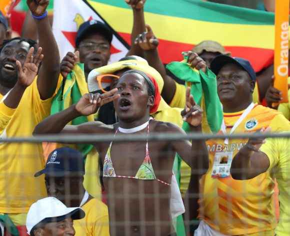 Zimbabwe fans during the 2019 Africa Cup of Nations Finals match between Uganda and Zimbabwe at Cairo International Stadium, Cairo, Egypt on 26 June 2019 ©Samuel Shivambu/BackpagePix