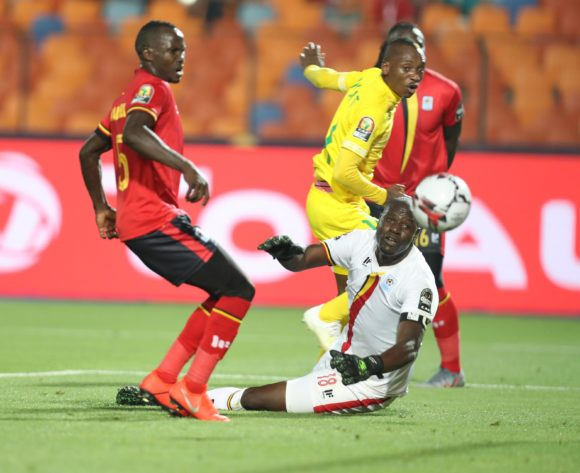 Khama Billiat of Zimbabwe score a goal pass Denis Onyango of Uganda during the 2019 Africa Cup of Nations Finals match between Uganda and Zimbabwe at Cairo International Stadium, Cairo, Egypt on 26 June 2019 ©Samuel Shivambu/BackpagePix