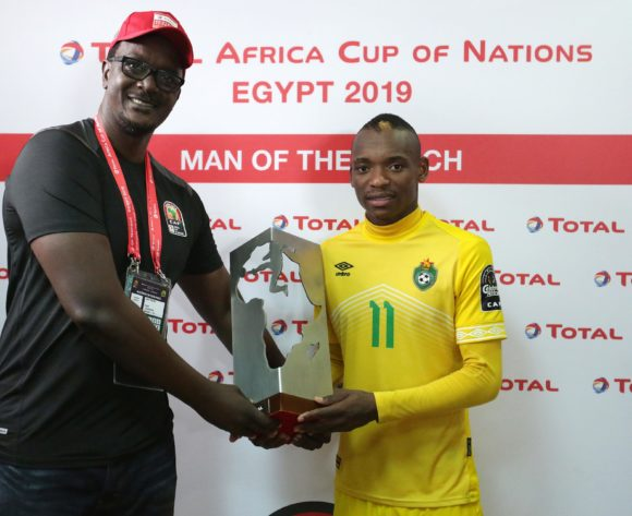 Khama Billiat of Zimbabwe won Total man of the match during the 2019 Africa Cup of Nations Finals match between Uganda and Zimbabwe at Cairo International Stadium, Cairo, Egypt on 26 June 2019 ©Samuel Shivambu/BackpagePix