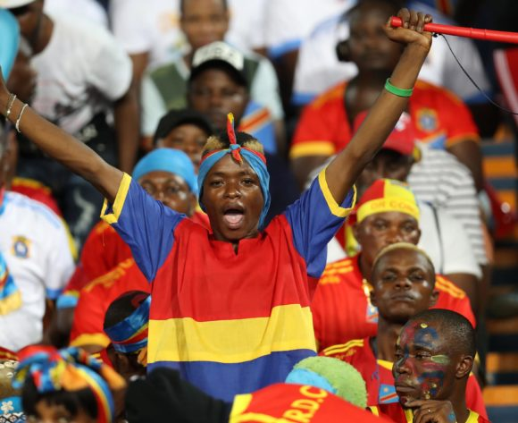 Dr Congo with South African fans during the 2019 Africa Cup of Nations Finals match between Egypt and Dr Congo at Cairo International Stadium, Cairo, Egypt on 26 June 2019 ©Samuel Shivambu/BackpagePix