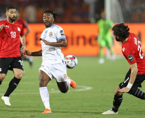 Jacques Maghoma of DR Congo challenged by Mahmoud Alaa of Egypt  during the 2019 Africa Cup of Nations Finals match between Egypt and Dr Congo at Cairo International Stadium, Cairo, Egypt on 26 June 2019 ©Samuel Shivambu/BackpagePix